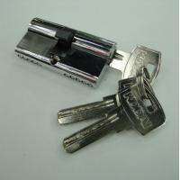 Wholesale 60mm Double Zinc Cylinder with 5 iron computer keys  CP color from china suppliers