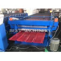Buy cheap PPGI Steel Two Layer Corrugated Roof Sheeting Machine , Roof Sheet Rolling Machines from wholesalers
