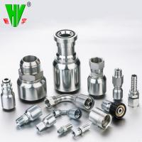 Buy cheap CNC manufacturing stainless steel hydraulic fitting hose 74 degree cone seal JIC fittings from wholesalers