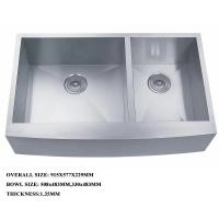 Buy cheap stainless steel double bowl deep kitchen sink with strainer best quality sink from wholesalers