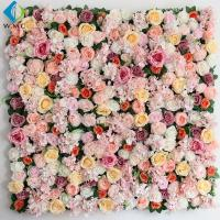 Wholesale Shop Decoration Artificial Vertical Garden , Peony Roses Artificial Flower Wall from china suppliers