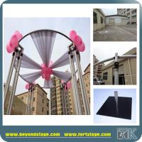 Round Pipe and Drapes for Flower Wall Decor with Circular Design With Chiffon High Quality Decor for Hotel Hall/Backwall