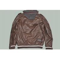 Plus Size, Big and Tall, Coffee and Fashion Western Casual Mens Leather Jacket with Hood Manufactures