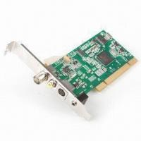 Wholesale TV Tuner Card, PCI Silicon, with Customizable Channel Lists and Still-image Snapshots from china suppliers