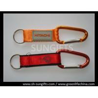 Carabiner with belt key chain, custom logo printing key chain Manufactures