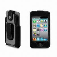 Buy cheap PU Leather Case for iPod Touch 4G, with Belt Clip from wholesalers