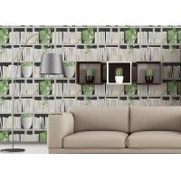 Buy cheap Green Plants And Books Printing 3D Home Wallpaper  Modern Concise Style For Coffee Shop from wholesalers