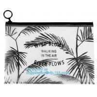Buy cheap plastic bag with zipper and slider for garment packaging, frosted swimwear PVC vinyl Bag with slider zipper, slider zipp from wholesalers