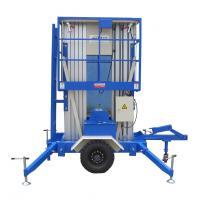 China Towing Aerial Hydraulic Lift Platform 12m And Loading 200Kg on sale