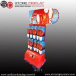 Buy cheap custom corrugated paper POP peg hook floor display rack from wholesalers