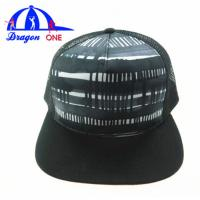 Wholesale 5 Panel Custom Snapback Hats , Customized Adults Flat Peak Mesh Trucker Caps from china suppliers