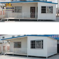 Buy cheap Durable Sandwich Panel Prefab Homes With Foot Supports And Modular Construction from wholesalers
