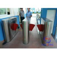 Buy cheap Subway High Traffic Flow Flap Barrier Gate 304 Stainless Steel Single / Double Core from wholesalers