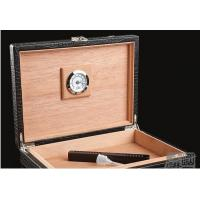 Buy cheap Black Luxury Spain Wooden Cigar Gift Box / Engraved Cigar Humidor from wholesalers