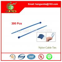 Buy cheap 7.6x300mm Self Locking Nylon Cable Ties Zip Tie Cable Ties Reusable 100Pcs/Pack from wholesalers