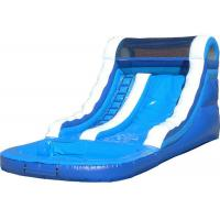 China Customized Blue Kids Inflatable Water Slide / Blow Up Pool Slides For Inground Pools on sale