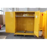 1.0mm galvanized Steel Horizontal Inflammable Flammable Storage Cabinet 2 Manual Close Doors Chemical Liquid Manufactures