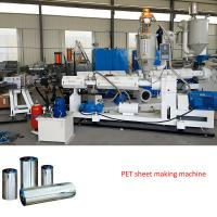 Buy cheap plastic sheet extrusion line PET sheet extruder machine from wholesalers