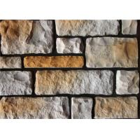 Colorful Artificial Wall Stone For Interior / Exterior Wall Decoration Irregular Size Manufactures