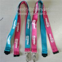 Buy cheap Custom sublimation lanyards with metal loop hook and plastic breakaway clip, from wholesalers