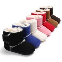 Buy cheap wholesale 7 colors Winter snow warm boots 0-18 months anti-slip shoes baby boots from wholesalers