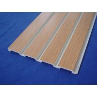 Buy cheap Plastic Taupe Slat Wall Panels / White Slatted Wall Panels For Shelves from wholesalers