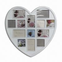 Buy cheap Red Heart Plastic Injection Photo Frame, Multi Opening from wholesalers