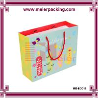 Wholesale China manufacturer customized full color coated paper bag with red rope handle for kids from china suppliers