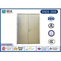 Wholesale Yellow 1 Hour Fire Resistant Wooden Doors With Two Leaves Scratch Resistance from china suppliers