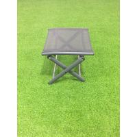 Modern Outdoor Furnitures X cross leg footrest ,  folding aluminum footrest Manufactures