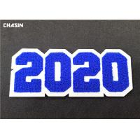 Buy cheap 3D Custom Sew On Letterman Patches / 2020 Number Chenille Back Patches from wholesalers