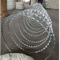 Buy cheap Factory price Anti-piracy CBT-65 galvanized razor wire   concertina wires Dia 450mm 10kgs per roll from wholesalers