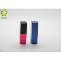 Buy cheap Square Blue Red Color Aluminium Empty Magnetic Lipstick Tube Container 3g 5g from wholesalers