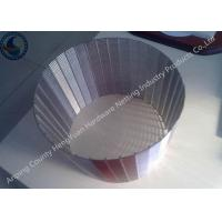 Buy cheap Free Sample Wedge Wire Screen Filter , Wedge Wire Sheets Anti - Corrosion from wholesalers