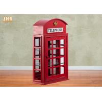 Buy cheap British Telephone Booth Cabinets Decorative Wooden Cabinet Red Color MDF Floor Rack Furniture from wholesalers