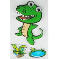 Buy cheap Personalised Crocodile 3D Cartoon Stickers Paper Layered For Bedroom Wall Decorative from wholesalers