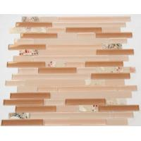 Buy cheap Pink Resin Pearl Stacked Shell Mosaic Tile Strip Shaped Balcony Application from wholesalers