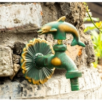 Buy cheap Animal Shaped Handle Antique Brass Outdoor Water Tap And Sprayer from wholesalers