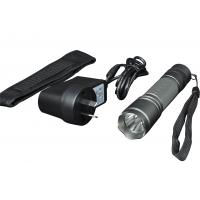 Portable cool grey metal rechargeable flashlight Explosion proof and water proof function Manufactures