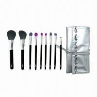 Buy cheap 9-piece Acrylic Makeup Brush with Shiny Pouch from wholesalers