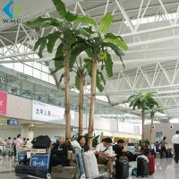 Wholesale Plastic Artificial Palm Trees , Large Szie Green Artificial Banana Plant from china suppliers