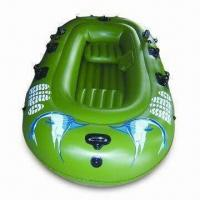 Wholesale Inflatable Boat with 0.25 to 0.55mm PVC Thickness, Measures 100 x 52 Inches from china suppliers
