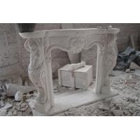 Buy cheap Golden Bay Mantel Sculpture Marble stone Fireplace from wholesalers