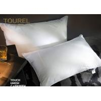 Wholesale Washed Goose Down Feather Hotel Comfort Pillows Embroidery Logo from china suppliers