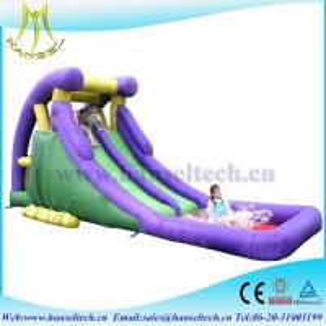 Hansel hot selling children entertainment PVC inflatable bouncer slide jumping slide for sale Manufactures