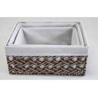 Buy cheap rectangle home storage basket  box tray with paper material,artistic basket 100% handwoven wicker storage baskets from wholesalers