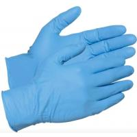 Blue Latex Free Disposable Vinly Gloves , High Stretch Nitrile Examination Gloves