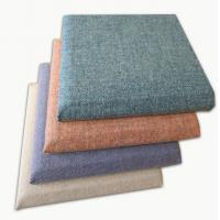 Buy cheap Decorative Soft Covered Fabric Fiberglass Acoustic Wall Panels Square Edge from wholesalers