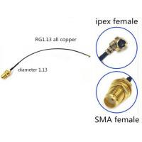U.FL Or I-PEX MHF To SMA Female RF Cable Assembly 50 ohm RF1.13 Cable