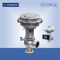 China Stainless steel sanitary diaphragm regulating pneumatic reversing valve with square positioner on sale